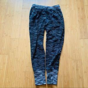 H&M Marled High Waisted  Drawstring Sweat Pants